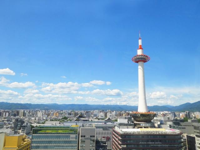 京都駅の写真 京都タワー
