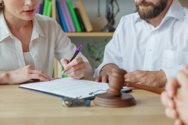 離婚条件合意のサイン