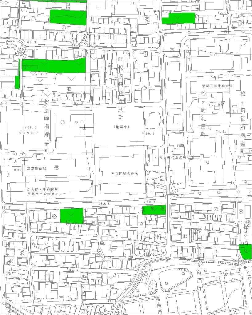 京都の生産緑地 マップ