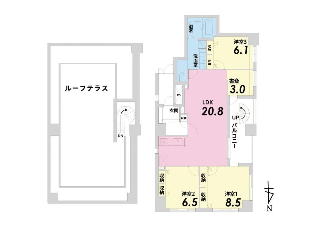 リーガル京都二条城東 間取り図