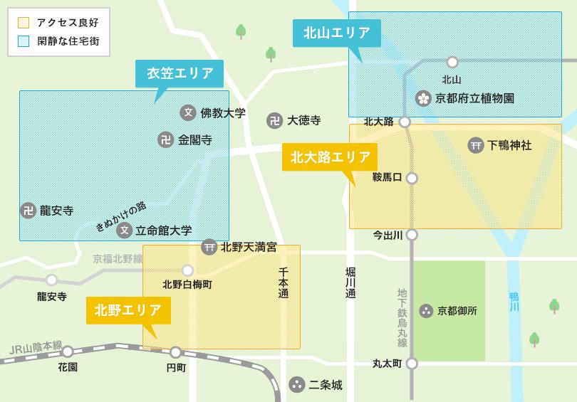 北区エリアマップ